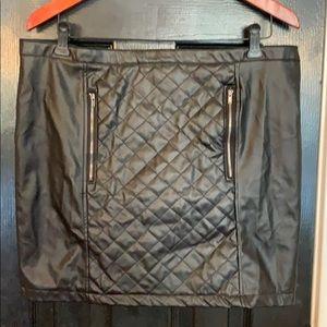 Miss London black faux leather skirt XL